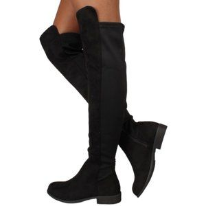 Rebels OLAA Over the Knee Black Boots 6.5